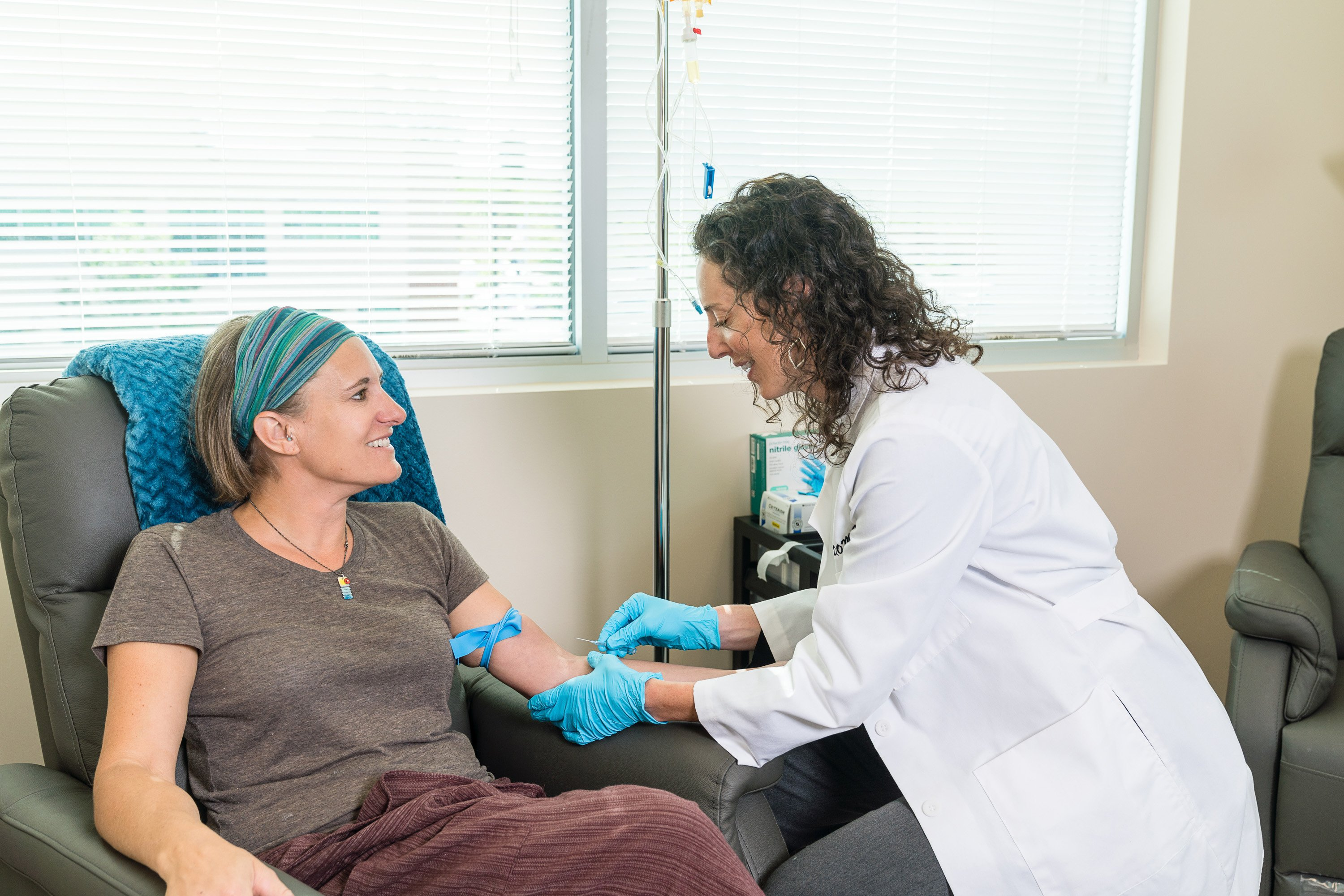 A woman in Golden, CO after receiving IV therapy